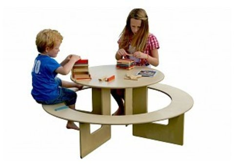 Table enfant avec banc intégré