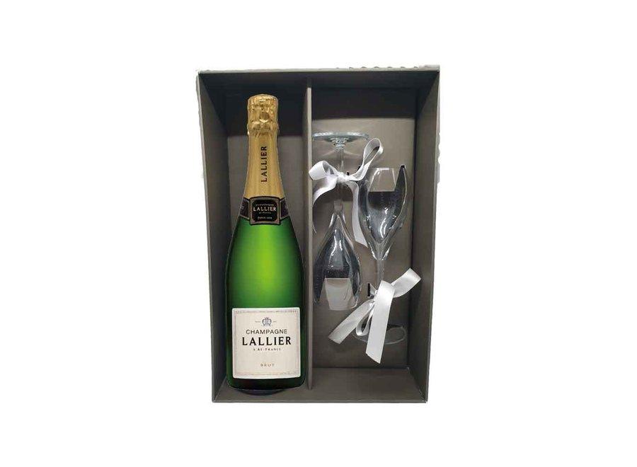 Luxekoffer Champagne Lallier met glazen
