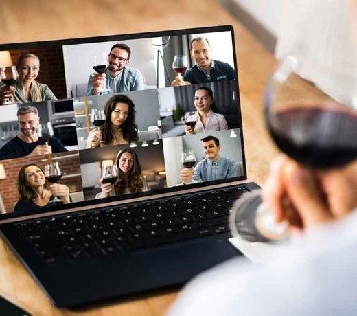 Online wijnproeven...
