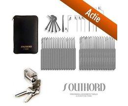 Southord Set de 74 piezas incluyendo cerradura para práctica de manipulación