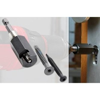 Lockpick Adaptador de extractor de tornillos
