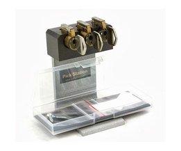Tri Pick Oefen cilinderbord met 3 sloten + cutaway slot