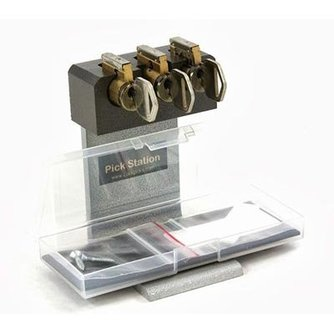 Tri Pick Practice Cylinder Lock with Cut-Away Lock