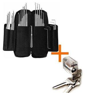 Best Seller - 37-piece lockpicking set slim-line +serratura per fare pratica
