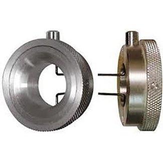 Dispositivo di serraggio tondo con pulsante