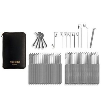 74-piece lockpicking set slim-line