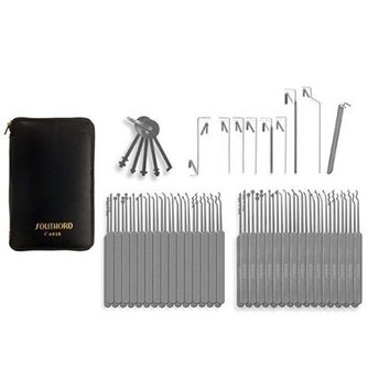 Southord Lock picking kit Slim-line, 74 pièces
