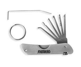 Southord Juego de lockpicking estilo cuchillo de bolsillo