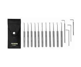 Southord Lock picking kit Slim-line, 15 pièces