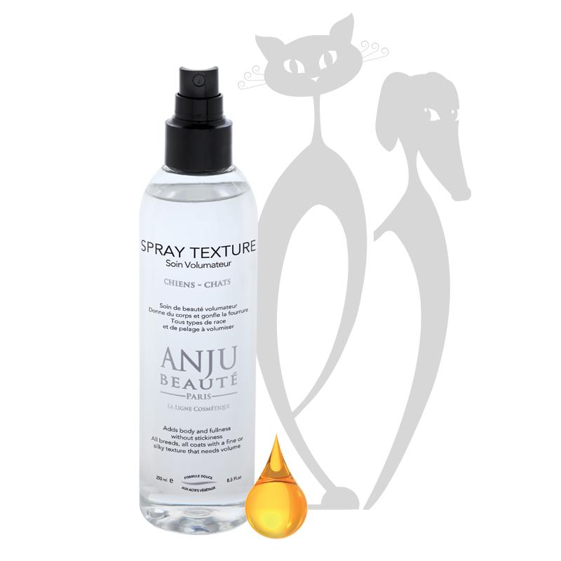 Anju Beauté Spray Texture. Zorgt voor een mooie glans en volume van de vacht.