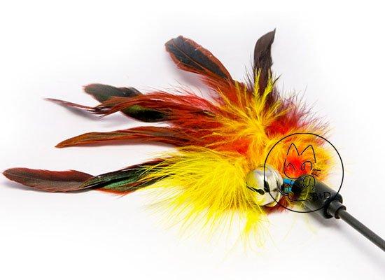 Hengel met veren en belletje