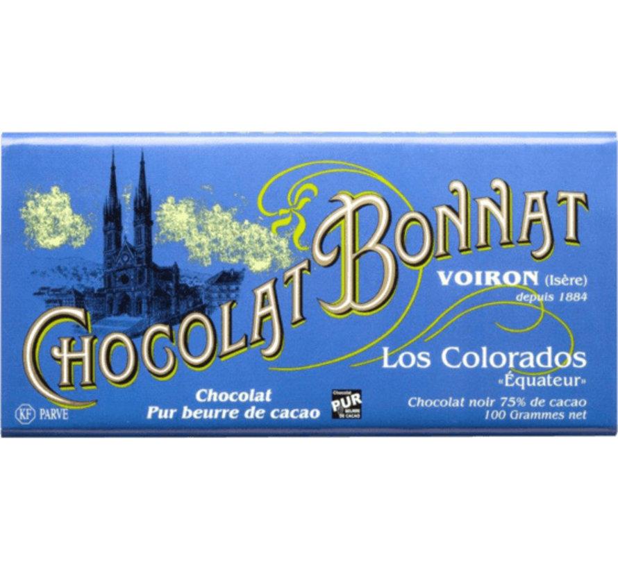 Dunkle Schokolade Los Colorados 75%