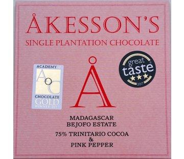 Akesson's Dunkle Schokolade 75% Trinitario Cocoa & Rosa Pfeffer
