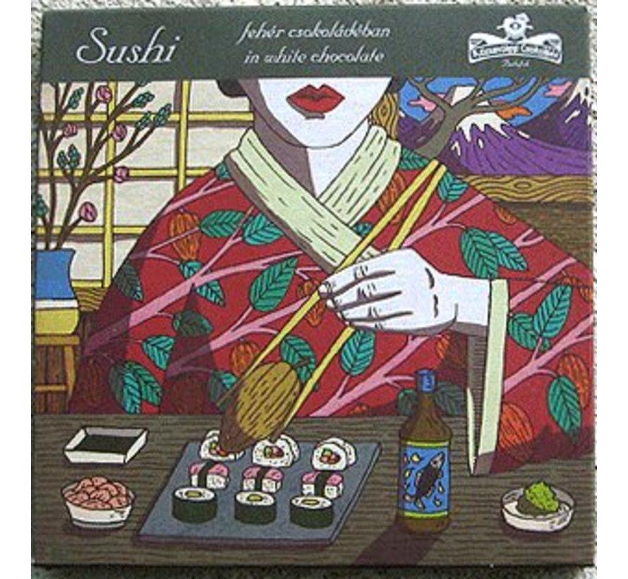 Weiße Schokolade Sushi