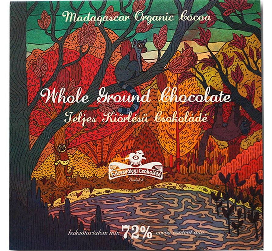 Dunkle Schokolade Whole Ground Chocolate 72%
