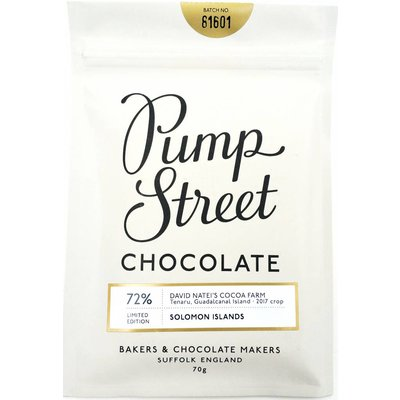 Pump Street Chocolate dunkle Schokolade Solomon Islands 72% Limited Edition