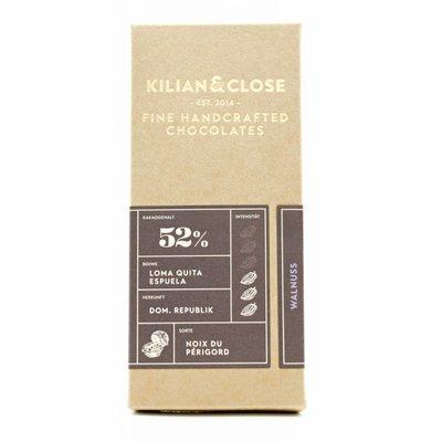 Kilian&Close Vegane Milchschokolade karamellisierte Périgord-Walnuss