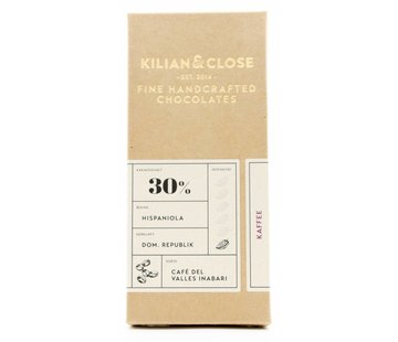 Kilian&Close Vegane weiße Schokolade mit Kaffee