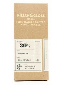 Kilian&Close Vegane weiße Schokolade mit Bronte-Pistazien