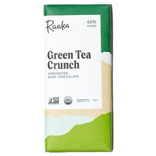 Raaka Chocolate Dunkle Schokolade Green Tea Crunch 66%