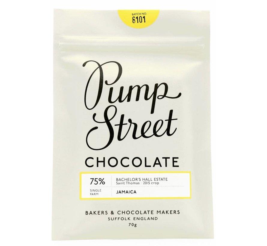 Dunkle Schokolade 75% Jamaica Bachelor's Hall Estate