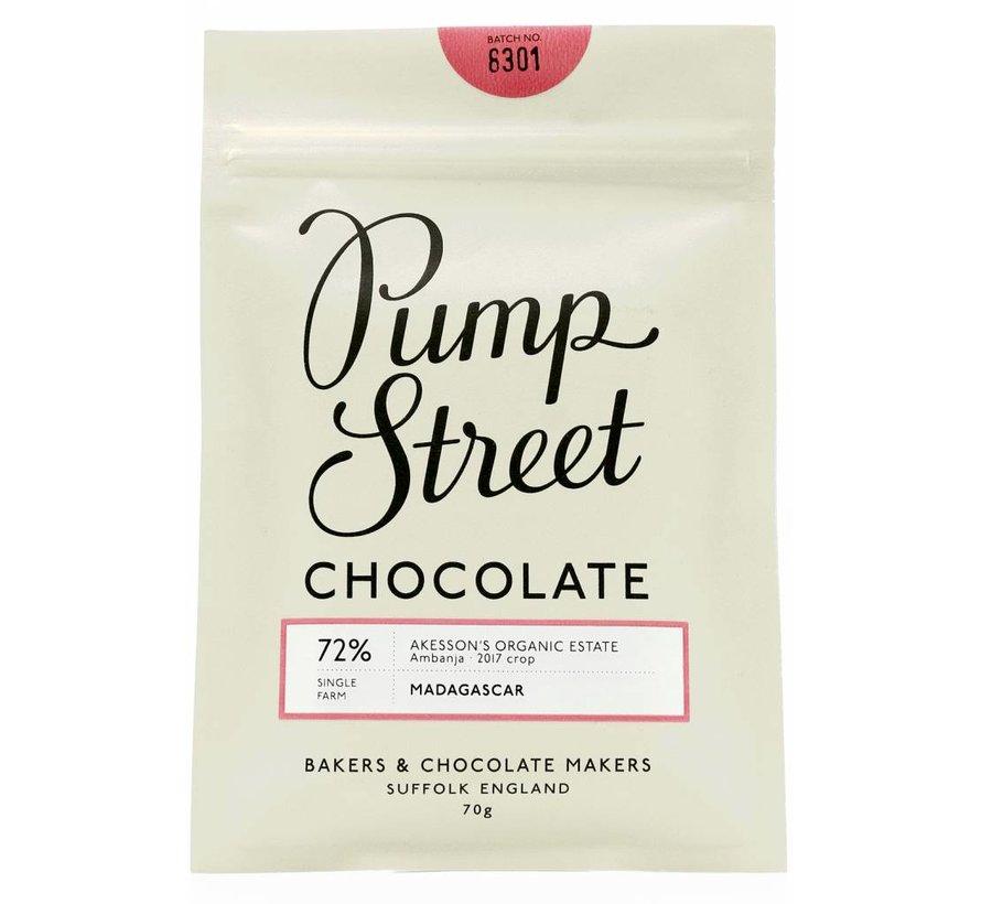 Dunkle Schokolade Madagascar Ambanja 72%