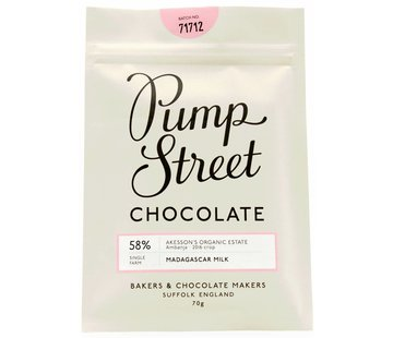 Pump Street Chocolate Milchschokolade Madagascar Milk 58%
