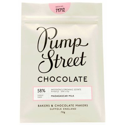 Pump Street Chocolate Madagascar Milk 58%