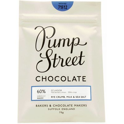 Pump Street Chocolate Milchschokolade Rye Crumb, Milk and Sea Salt 60%