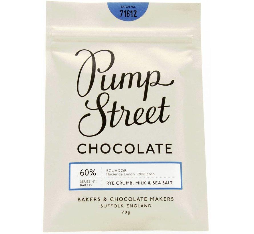 Milchschokolade Rye Crumb, Milk and Sea Salt 60%