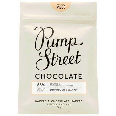 Pump Street Chocolate Dunkle Schokolade 66% Sourdough & Seasalt