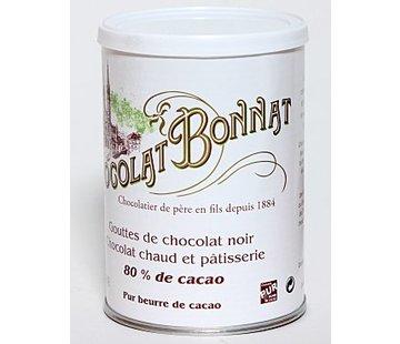 Bonnat Trinkschokolade 80% Gouttes de Chocolat noir