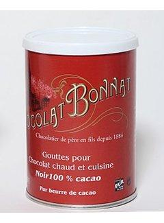 Bonnat Trinkschokolade Gouttes de Chocolat 100%