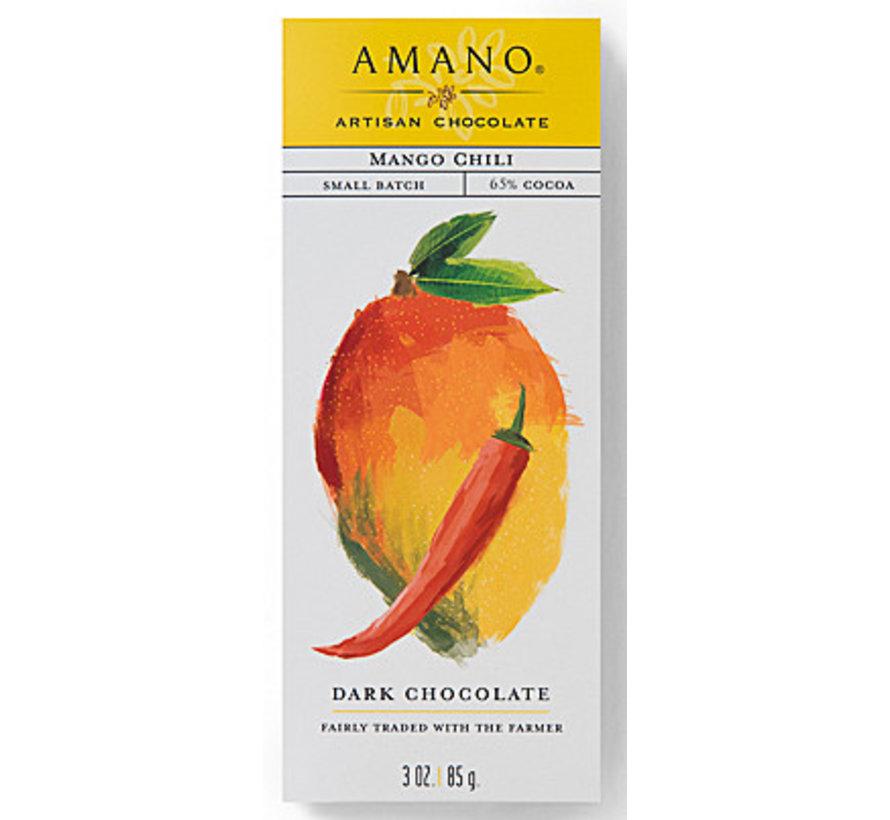 Dunkle Schokolade Mango-Chili 65%