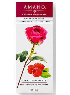Amano Artisan Chocolate Dunkle Schokolade Raspberry Rose 55%