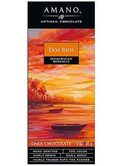 Amano Artisan Chocolate Dunkle Schokolade 70% Dos Rios