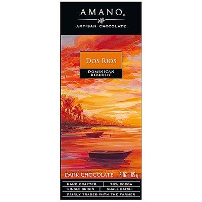 Amano Artisan Chocolate Dunkle Schokolade Dos Rios 70%