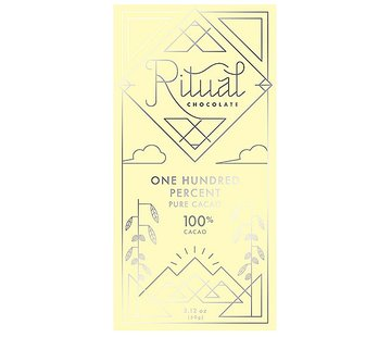 Ritual Chocolate Dunkle Schokolade One Hundred Percent Pure Cacao 100%