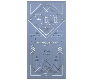 Ritual Chocolate Dunkle Schokolade Mid Mountain Blend 70%