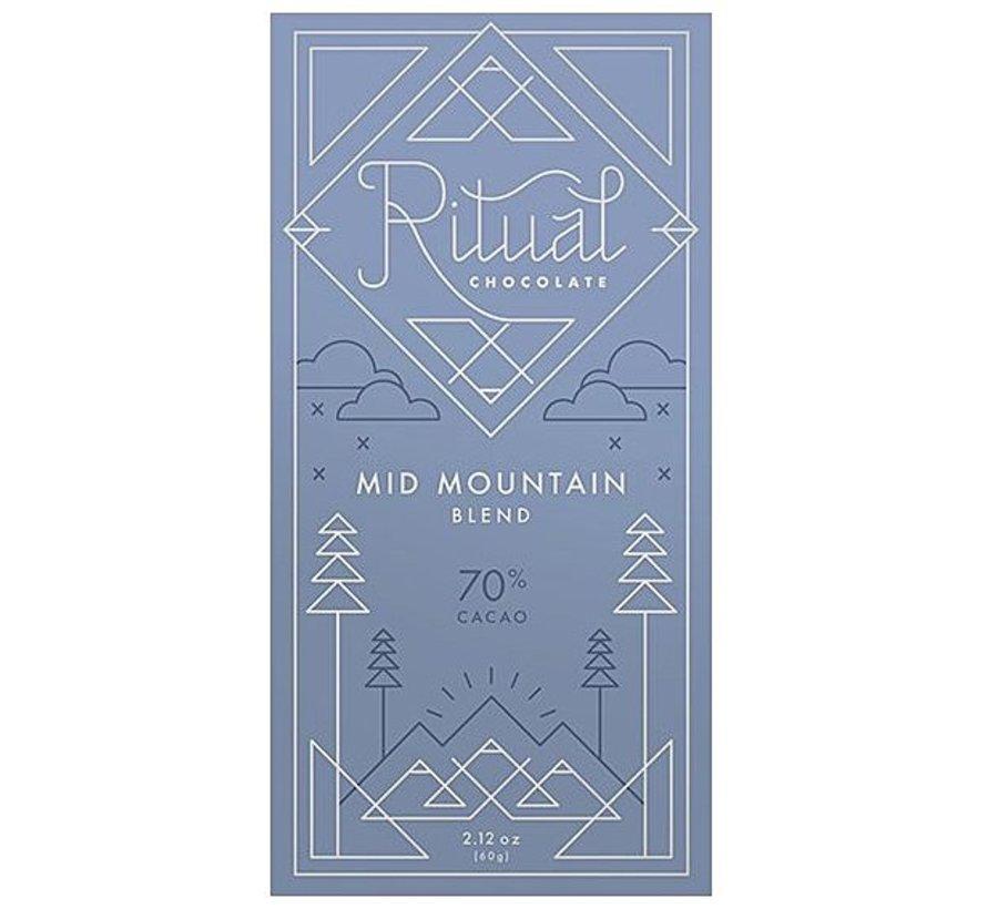 Ritual Chocolate Dunkle Schokolade Mid Mountain Blend 70%