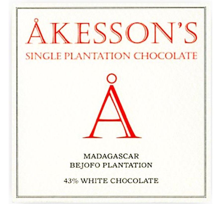 Akesson's Weiße Schokolade Madagascar Bejofo Estate 43%
