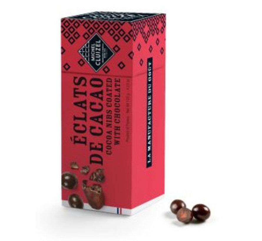 Kakaobohnensplitter in dunkler Schokolade