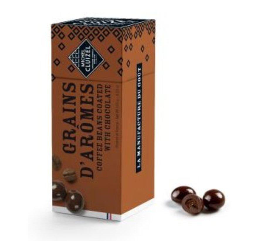 Kaffeebohnen in dukler Schokolade 60%