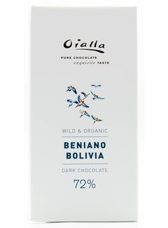 Oialla Dunkle Bio-Schokolade 72% Beniano Bolivia
