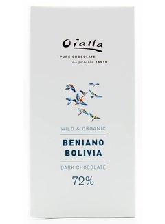 Oialla Dunkle Bio-Schokolade Beniano Bolivia 72%