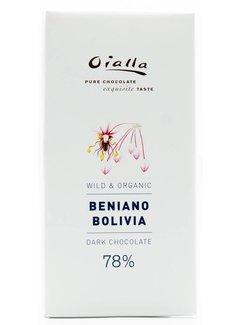 Oialla Dunkle Bio-Schokolade Beniano Bolivia 78%