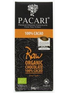Pacari Dunkle Schokolade Raw 100%
