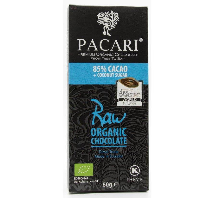 Dunkle Schokolade 85% Raw