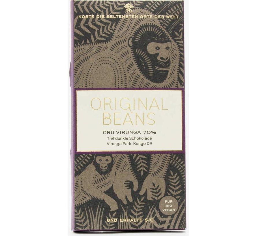 Dunkle Schokolade 70% Cru Virunga