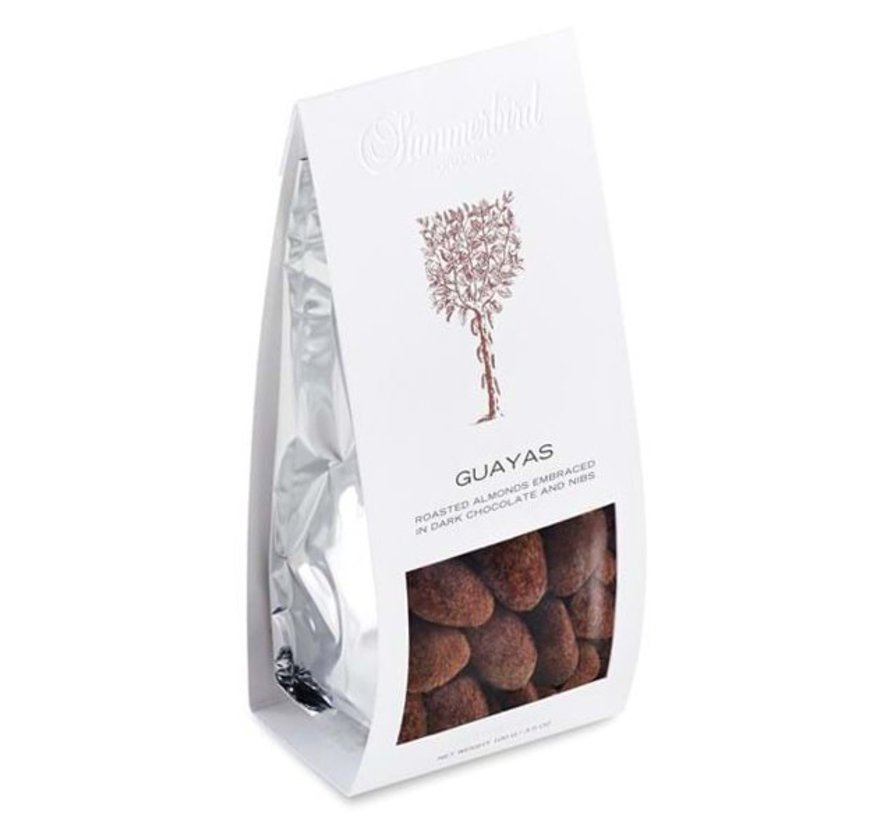 Bio-Mandeln in dunkler Schokolade Guayas mit Nibs und Salz